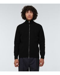 John Smedley Thatch Zipped Knitted Jacket - Black