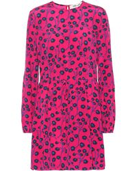 Diane von Furstenberg Printed Silk Minidress - Pink