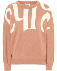 Chloé - Wool And Cotton Sweater - Lyst