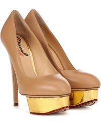 Charlotte Olympia Dolly Plateau Pumps - Natural