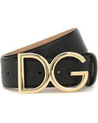 Dolce & Gabbana Dg Leather Belt - Black