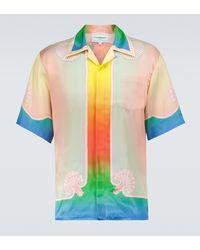 CASABLANCA Lucid Dreams Printed Silk Shirt - Multicolor