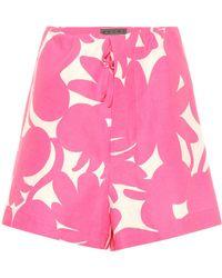 Marni - Linen, Cotton And Silk Shorts - Lyst