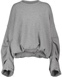 Dries Van Noten Sweatshirt aus Baumwolle - Grau