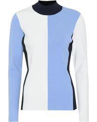 Tory Sport Vertical Block Tech-knit Turtleneck   468   Sport Pullovers - Blue