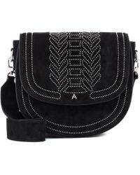 Altuzarra Ghianda Saddle Suede Shoulder Bag - Black