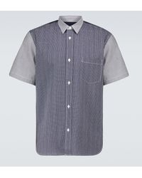 Comme des Garçons Kurzarmhemd aus Seersucker - Blau