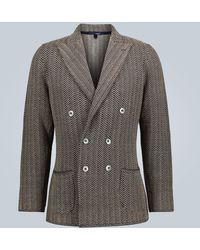 Lardini Blazer aus Baumwolle und Leinen - Blau