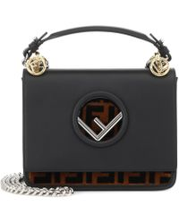 Fendi | Kan I F Small Leather Shoulder Bag | Lyst