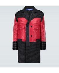 Junya Watanabe Nylon And Wool Patchwork Coat - Red