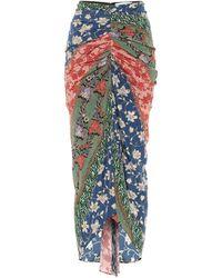 Veronica Beard Pixie Floral Stretch-silk Midi Skirt - Multicolour