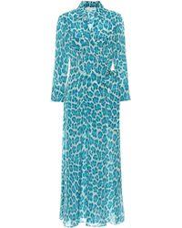 Diane von Furstenberg - Cotton And Silk Maxi Wrap Dress - Lyst