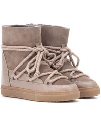 Inuikii - Suede And Leather Ankle Boots - Lyst