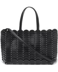 Paco Rabanne Pacoïo Leather Tote - Black