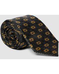 Fendi Cravatta in seta con stampa - Grigio