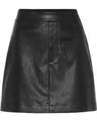Helmut Lang Leather Miniskirt - Black