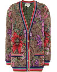 Gucci Cardigan aus Jacquard - Mehrfarbig