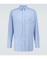 Etro Gestreiftes Hemd aus Baumwolle - Blau