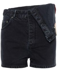 Y. Project - High-Rise Jeansshorts - Lyst