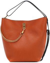 Givenchy Gv Leather Bucket Bag - Brown