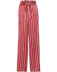 Asceno - Pantalon de pyjama en soie rayée - Lyst