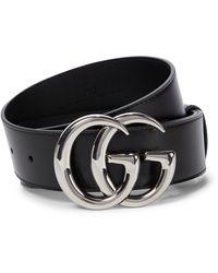 Gucci Gürtel GG Marmont aus Leder - Schwarz