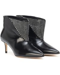 Christopher Kane - Embellished Leather Ankle Boots - Lyst