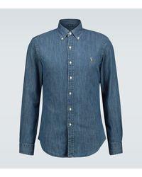 Polo Ralph Lauren Slim-Fit-Jeanshemd - Blau