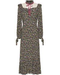 Marc Jacobs Floral Midi Dress - Multicolor