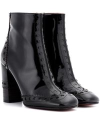 Chloé - Perry Patent Leather Ankle Boots - Lyst