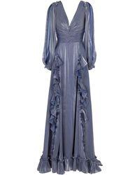 Costarellos Selda Georgette Gown - Blue