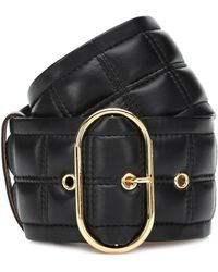Acne Studios Quilted Leather Belt - Black
