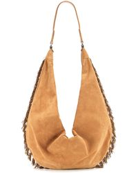 The Row Sling 15 Suede Shoulder Bag - Brown