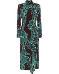 Dries Van Noten Vestido midi floral - Verde