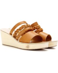 Ancient Greek Sandals - Helene Leather Wedge Sandals - Lyst