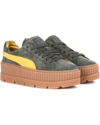 Puma Ankle Strap Leather Creeper Sneakers - Lyst 9b43c4c4a