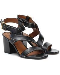 Chloé Women's Candice Chunky - Heel Sandals - Black