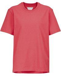 Bottega Veneta Camiseta de punto fino de algodón - Rojo