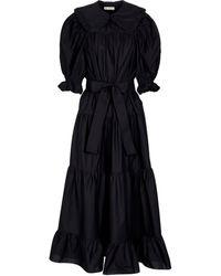 Ulla Johnson Rosalind Cotton Poplin Midi Dress - Black