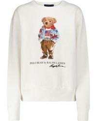 Polo Ralph Lauren Sweatshirt aus einem Baumwollgemisch - Weiß