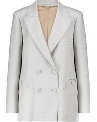 Blazé Milano Everyday Blazer aus Wolle - Grau