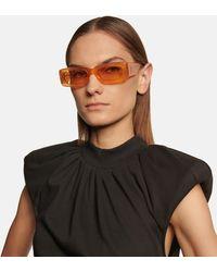 The Attico X Linda Farrow Sonnenbrille Marfa Mini - Orange