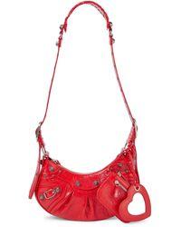 Balenciaga Borsa a spalla Le Cagole XS in pelle - Rosso