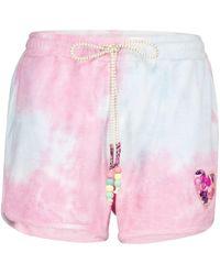 LoveShackFancy Careen Tie-dye Cotton Shorts - Pink