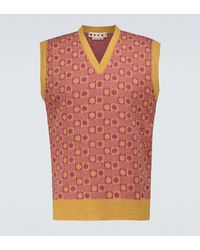Marni Knitted Wool Vest - Pink