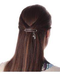 JW Anderson Embellished Hair Clip - Metallic