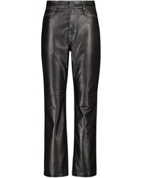 Proenza Schouler Pantalon droit White Label en cuir - Noir