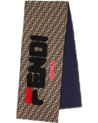 Fendi - Mania Wool And Silk Scarf - Lyst