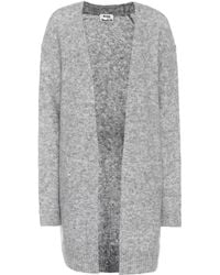 Acne Studios Raya Wool And Mohair-blend Cardigan - Grey