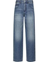 Victoria Beckham Diana High-waisted Jeans - Blue